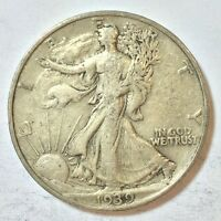 1939 WALKING LIBERTY HALF DOLLAR US 50 CENT COIN G29