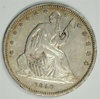 1840 SEATED LIBERTY HALF DOLLAR XF
