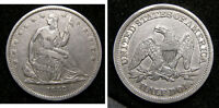 1842 SEATED LIBERTY HALF DOLLAR   BIG REVERSE RIM CUD