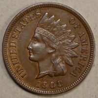 1908 S INDIAN CENT ALMOST UNCIRCULATED ORIGINAL & PROBLEM FREE   0121 09