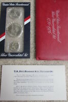 1776 1976 UNITED STATES BICENTENNIAL 40 SILVER UNCIRCULATED 3 COIN SET