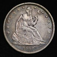 1840 SEATED LIBERTY HALF DOLLAR CHOICE XF  E206 CNT