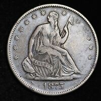 1875 S SEATED LIBERTY HALF DOLLAR CHOICE VF  E251 AMT