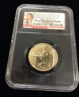 2014 D ENHANCED SACAGAWEA NGC SP69 FIRST RELEASE COIN AND CURRENCY SET MOHAWK