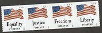US 4640A FOUR FLAGS FOREVER PNC STRIP SET SSP S22222 SEE PICTURE MNH 2012