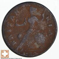 1730 GREAT BRITAIN 1/2 PENNY 1055