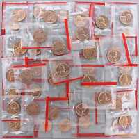 1964 D LINCOLN MEMORIAL CENT MINT CELLO BU PENNY ROLL 50 US COIN LOT
