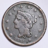 1841 BRAIDED HAIR LARGE CENT CHOICE  E130 TP