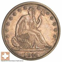 1846 SEATED LIBERTY SILVER HALF DOLLAR XB96