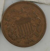 1871 TWO CENT PIECE Z73