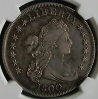 GORGEOUS 1800 DRAPED BUST DOLLAR W/SUPER TONING   GRADED XF 45 BY NGC