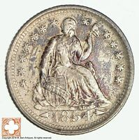 1854 SEATED LIBERTY SILVER HALF DIME 1928