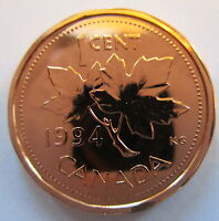 1994 CANADA 1 CENT SPECIMEN PENNY COIN