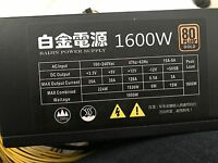 1600W POWER SUPPLY PC ETH ZCASH MINING RIG 6   12 GPU ANTMINER S9 S9 TOO
