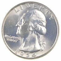 1954 D WASHINGTON QUARTER 90 SILVER 7023