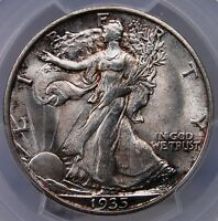 1935 S WALKING LIBERTY HALF DOLLAR PCGS MS 64 GREAT SURFACES AND ORIGINALITY