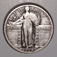 1928 STANDING LIBERTY SILVER QUARTER  VF