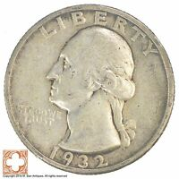 1932 S WASHINGTON QUARTER 90 SILVER YB98