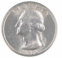 1932 WASHINGTON QUARTER 90 SILVER 7216