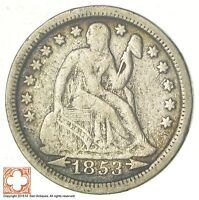 1853 SEATED LIBERTY SILVER DIME 7297