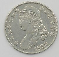 1832 CAPPED BUST HALF DOLLAR   SM LETTERS A62