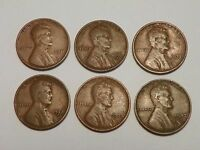 LINCOLN WHEAT PENNY LOT 1931 P 1931 D 1932 P 1932 D 1933 P 1933 D   G TO F