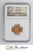 MS65 RD 1944 S CENT LINCOLN WHEAT   GRADED NGC 4467