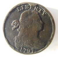 1797 DRAPED BUST CENT S-138 R-1