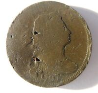 1797 DRAPED BUST CENT S-123 R-4