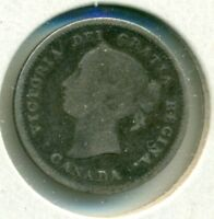1888 CANADA SILVER FIVE CENTS GOOD GREAT PRICE