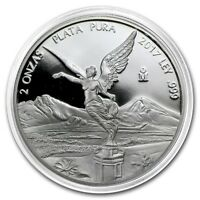 SALE  PROOF LIBERTAD   MEXICO   2017 2 OZ PROOF SILVER COIN IN CAPSULE