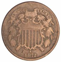 1872 TWO CENT PIECE SB88