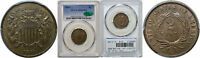 1871 TWO CENT PIECE PCGS MINT STATE 65 BN CAC
