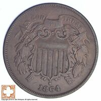 1864 TWO CENT PIECE XB50