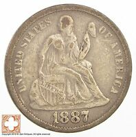 1887 SEATED LIBERTY SILVER DIME 2720