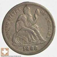 1888 SEATED LIBERTY SILVER DIME 3261