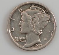 1927 MERCURY/WINGED LIBERTY HEAD DIME G16