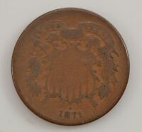 1871 TWO-CENT PIECE G29