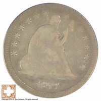 1877 SEATED LIBERTY SILVER QUARTER YB48