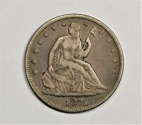 1875 CC SEATED HALF DOLLAR HIGH VF ORIGINAL TONE