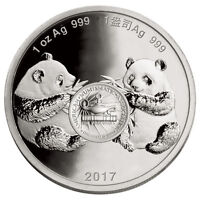 2017 CHINA DENVER ANA WORLD'S FAIR SHOW PANDA 1 OZ PROOF SILVER MEDAL SKU48661