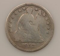 1857 P SEATED LIBERTY SILVER HALF DIME G20