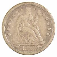 1855 SEATED LIBERTY DIME, ARROWS AT DATE J35