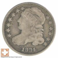 1834 CAPPED BUST DIME XB05