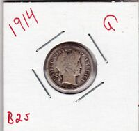 1914 BARBER DIME IN GOOD  CONDITION STK B25