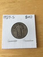 1927-S STANDING LIBERTY 90 SILVER QUARTER - US COIN