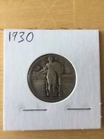 1930 STANDING LIBERTY 90 SILVER QUARTER - US COIN