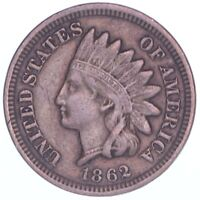 1862 INDIAN HEAD CENT  FINE PENNY VF