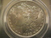 1903-O MORGAN DOLLAR  PCGS MINT STATE 63 VAM-4A  CLASHED OVALOID