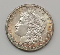 1887-S MORGAN SILVER DOLLAR Q66